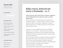 Tablet Preview of 2016poznan.pl